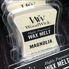 WoodWick Small Wax Melt Merchandising – Fixtures Close Up Wood Wick Candles, Tea Candles, Candle Wax, Candle Store, Candle Warmer, Store Fixtures, Business Card Holders, Wax Melts, Packaging Design