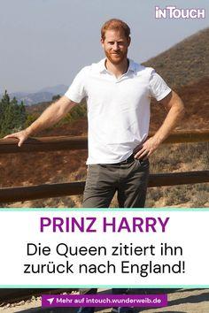 Huch! Wie nun berichtet wird, soll Prinz Harry schon bald ins Königreich zurückkehren... #prinzharry #queenelizabeth #britischeroyals #royals #royalnews #promis #stars #vipnews #prominews #intouch Royal News, Vip News, Baby News, Die Queen, Prinz William, Prinz Harry, England, Mens Tops, T Shirt