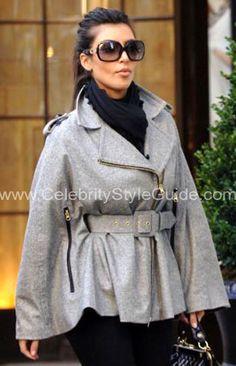 Oh hello - this poncho is fab. (Kim Kardashian)