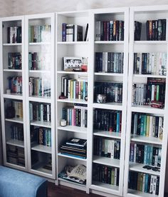 Bookshelves, Bookcase, Shelf Inspiration, Home Libraries, Book Aesthetic, Office Ideas, Home Office, Ikea, Bedrooms