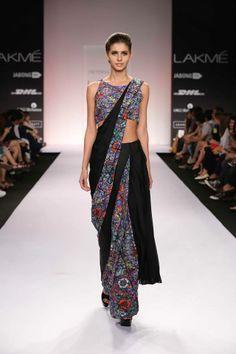 http://www.JyotsnaTiwari.com/ Sarees at Lakme Fashion Week 2014