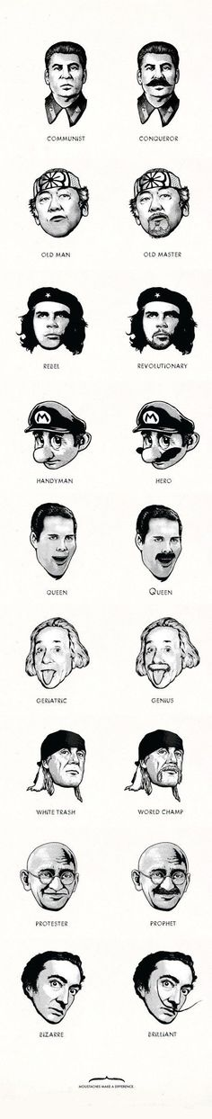 Moustaches make a difference.