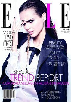 Xenia Deli - Elle Magazine Cover [Romania] (February 2014)