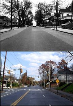 Georgia Avenue at Hill Street, in the Grant Park neighborhood. 1952 and now! #thenandnow
