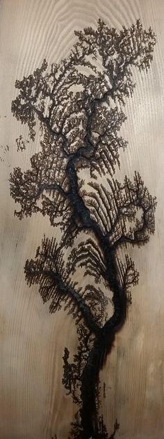 Electrified Wood Art : electrified, Lichtenberg, Fractal, Pattern, Burning, Baking, Electricity, Ideas, Lichtenberg,, Burning,, Patterns