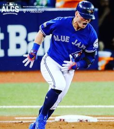 Josh Donaldson hits a home run in Game 4 of the ALCS. Toronto Blue Jays won 5-1, avoiding a sweep. Cleveland Indians are up 3-1. 2016 Postseason. MLB. Baseball. Canada's Team. #OurMoment