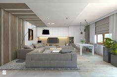 Dom jednorodzinny 7 - Duży salon z jadalnią, styl nowoczesny - zdjęcie od BAGUA Pracownia Architektury Wnętrz