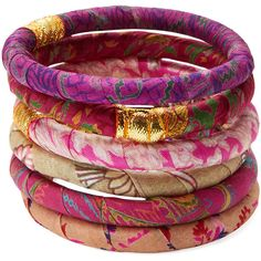 Rosena Sammi Rosena Sammi Women's Set Of 6 Floral Bangle Bracelets (250 SEK) ❤ liked on Polyvore featuring jewelry, bracelets, accessories, multi, bangle jewelry, bangle bracelet, bracelets bangle, hinged bangle и red bangle bracelet