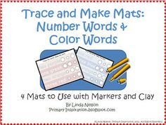 FREE wipe-off mats for color and number words.