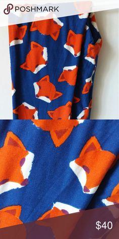 Lularoe Unicorn fox print Wore 1x. EUC. Like new, got bc my sons name is Fox haha just dont wear them! Washed per LLR instructions. Smoke free pet free home! LuLaRoe Pants Leggings
