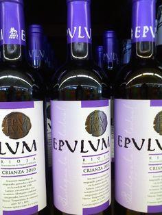 Botella de vino EPULUM, en latín significa festín. Júlia Carné Muñoz, 4º ESO B.