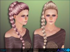 Long braid for females  Found in TSR Category 'Female Sims 3 Hairstyles'
