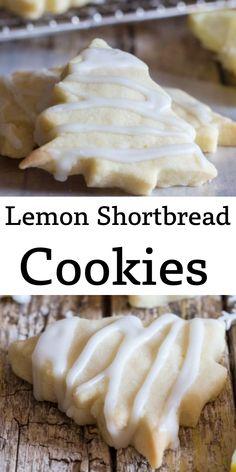 Lemon Desserts, Lemon Recipes, Fun Desserts, Baking Recipes, Dessert Recipes, Crinkle Cookies, Bar Cookies, Lemon Shortbread Cookies, Shortbread Recipes