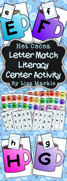 Warm up your literacy center with this colorful hot chocolate and marshmallow letter match activity! Laminate and attach Velcro to the cards for a fun reusable game. You can match all upper case, all lower case, or upper to lower case letters! Improve your preschool or kindergarten students' skills in a fun way while it's cold outside! Enjoy!
