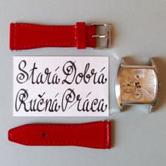 Handmade leather a watch strap by Brano Klocan LEATHERCRAFT  Ručne šitý kožený remienok na hodinky Leather Craft, Belt, Watches, Accessories, Leather Crafts, Belts, Tag Watches, Clocks, Ornament