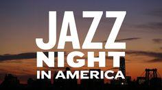 Jazz Night In America logo with sunset
