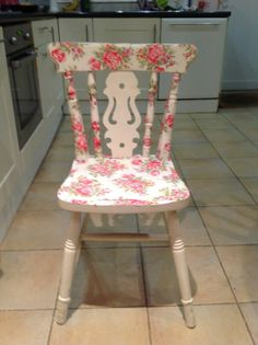 shabby chic decoupaged chair
