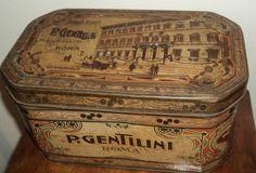 scatola latta PUBBLICITARIA biscotti Gentilini Roma