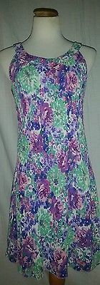 RK Originals Floral Multi Color Lined Pleated Dress 8