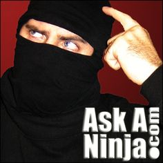 Ask a Ninja! Do ninjas fall in love? No! they glide silently into it with two swords drawn!