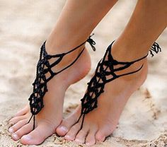Alvak Handmade Beach Wedding Bridesmaid Barefoot Sandals Anklet Black(SPH35) by Alvak -- Awesome products selected by Anna Churchill