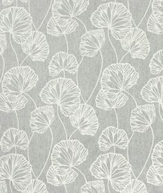 Portfolio Sandy Pond Smoke Fabric. Perfect gray, floral accent fabric for any color room (green, blue, yellow, you name it :)