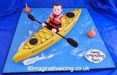 Sea kayak birthday cake