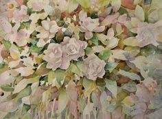 Gardenias para Carina Gardenias, Negative Space, Watercolours, Still Life, Tatoos, Watercolor Art, Paintings, Flowers, Plants