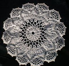 crocheted lace: Corticelli Venetian Pattern Doily from 1918 - Finished!
