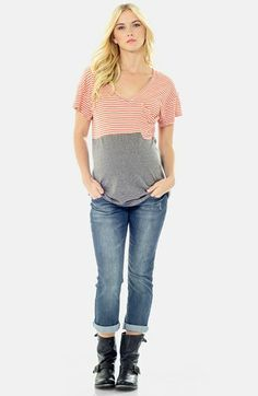 Lilac Clothing 'Micah' Maternity Tee available at #Nordstrom