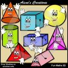 This pack is an add on to my Fun Maths Pack.The pack contains:1. Set of 8 3D cartoon shapes with matching digi stamps2. $