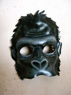 Gorilla Leather Mask Halloween Costume King Kong by LovelyLiddy