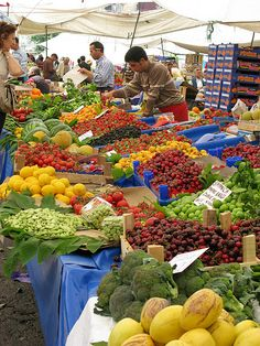 Produce in profusion - #Market in #Istanbul, #Turkey