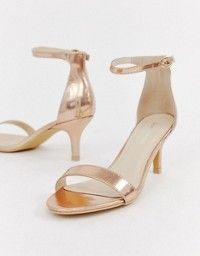 447bb5477eb Public Desire Afternoon mid clear heeled sandals