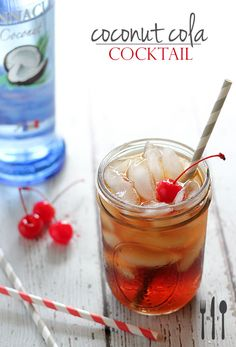 Coconut Cola Cocktail | Brokeass Foodie