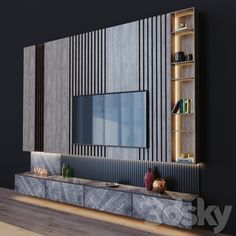 models: Other - tv set 3 Tv Feature Wall, Feature Wall Living Room, Ikea Living Room, Living Room Wall Units, Living Rooms, Room Interior, Interior Design Living Room, Living Room Tv Unit Designs, Tv Set Design