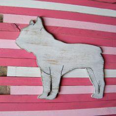 French Bulldog Sign Wall Art Wood Frenchie Dog Sign. $39.00 USD, via Etsy.