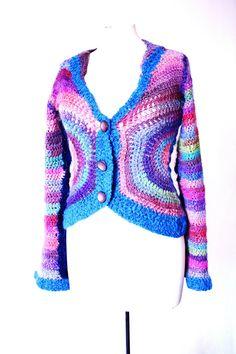 crocheted rainbow jacket @bewool