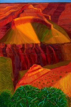 Double Study for A Closer Grand Canyon  by David Hockney  Royal Academy of Arts        Date painted: 1998