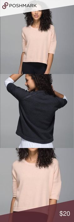 Lululemon Bhakti Reality knit cropped sweater Sz 4 Good condition! Size 4. Missing size tag. lululemon athletica Sweaters