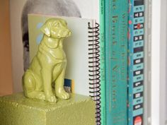 The experts at HGTV.com share an easy project for turning toy animals and bricks into colorful and sturdy bookends.