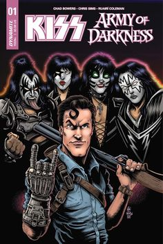 Ash Williams Meets Gene Simmons In New KISS/Army Of Darkness From Dynamite