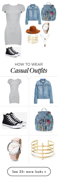 """Casual Date"" by ketsia-345 on Polyvore featuring Boohoo, Converse, Topshop, Phase 3 and BauXo"