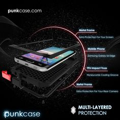 Galaxy S6 EDGE Case, PUNKcase Metallic Shockproof Slim Metal Cover Armor Case Samsung S6 EDGE PUNKcase Metallic Case Is Made with a Strong Aluminum Alloy Bumper
