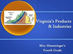 Virginia's 5 Regions with its products and industries