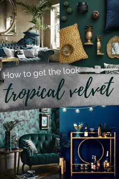 Get the Look Green and gold living room Tropical Velvet Luxury Living . - Get the Look Green and gold living room Tropical Velvet Luxury Home Decor Id … fetch - Luxury Home Decor, Luxury Homes, Diy Home Decor, Luxe Decor, Gold Home Decor, Green Home Decor, Luxury Apartments, Emerald Green Decor, Living Room Green