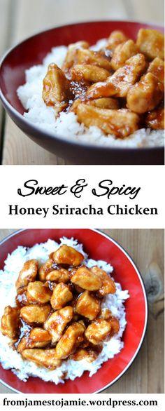sweet and spicy honey sriracha chicken