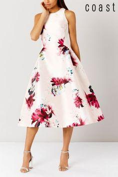 Coast Pink Minerva Full Midi Dress