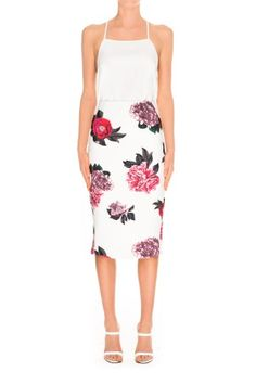 | C/meo Collective | Killing Vibe Skirt | Ivory Bouquet | $119.95 | BNKR | Shop C/meo