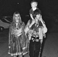 Anita, Keith an Marlon, on way to  Mick's wedding reception at the Cafę de Arts, St. Tropez, May 10, 71